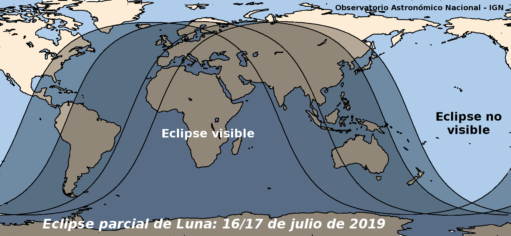 Mapa eclipse Julio 2019
